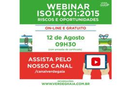 Webinar ISO 14001 versão 2015 – Riscos e Oportunidades
