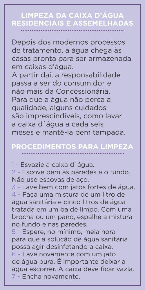Procedimentos indicados pela COPASA