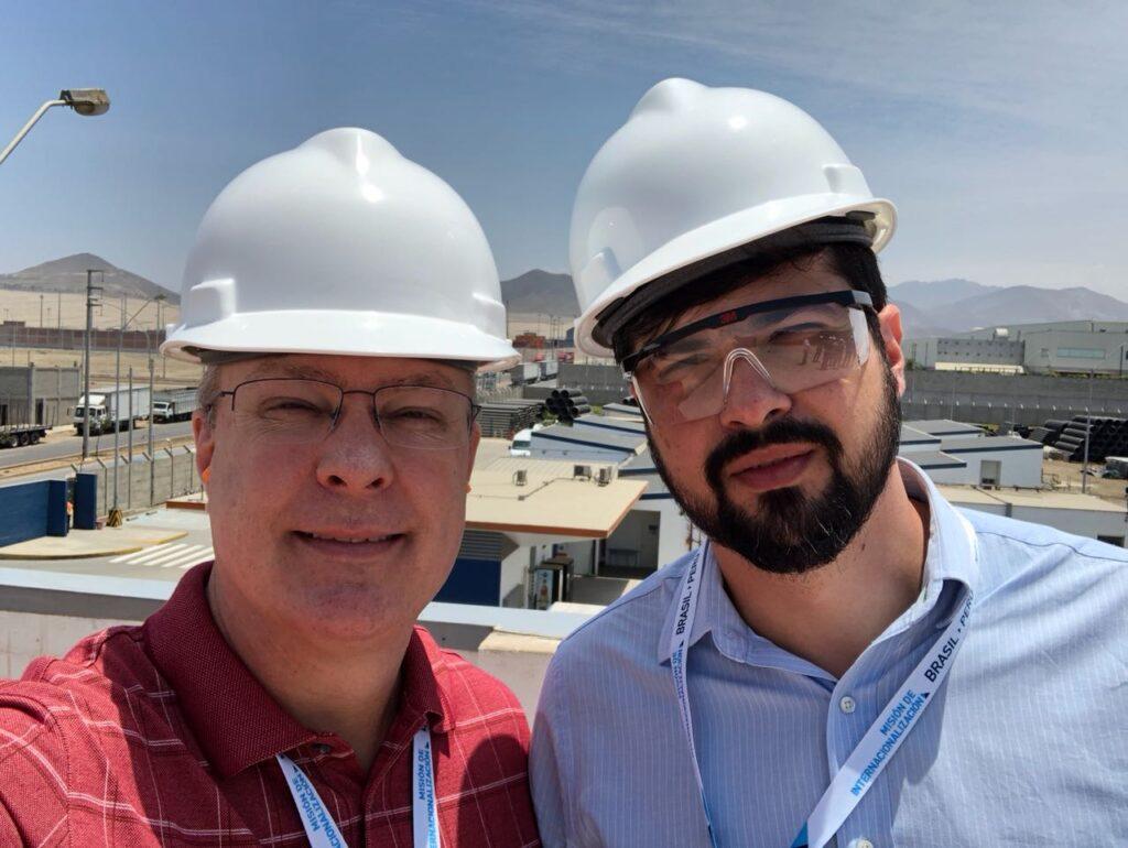 Deivison Pedroza, CEO, e Raphael Petronilho, IT Manager  no evento de internacionalização da Verde Ghaia