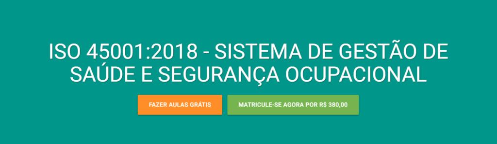 Curso EAD da Verde Ghaia - Sistema de Saúde e Segurança Ocupacional.