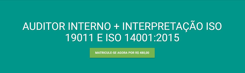 Curso EAD da Verde Ghaia para formação de auditor interno e ISO 14001:2015