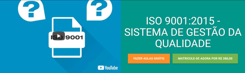 Curso EAD de sistema de gestão da qualidade da norma ISO 9001:2015