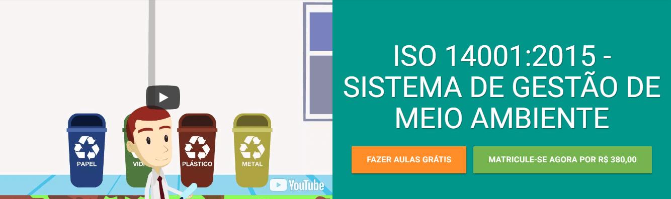 Curso EAD da Verde Ghaia sobre a ISO 14001:2015 do sistema de Gestão de meio ambiente