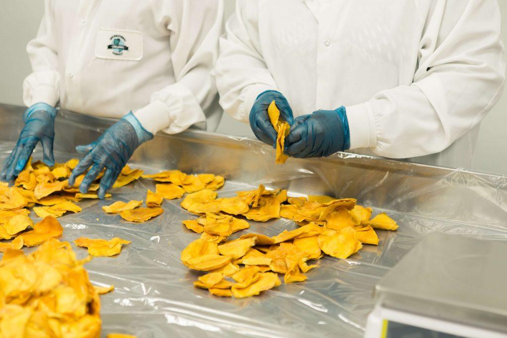 homens trabalhando com luvas e manuseando alimentos perecíveis - - ISO 22000 - Saúde e segurança de alimentos e Segurança Alimentar