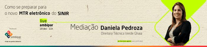 Daniela Pedroza, mediadora da Live sobre MTR - Manifesto de Transporte de Resíduos.